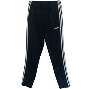 Adidas Black Track Pants With White Stripes